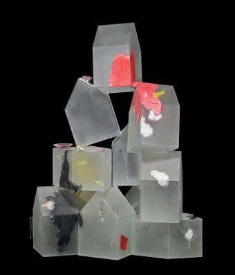 Color Field, Therman Statom (American, b. 1953), United States, Escondido, California, 1997. Plate glass, cut, painted; assembled (11 pieces). Assembled: H: 31 in., W. 18 in., D: 20 in. Collection of The Corning Museum of Glass, 2012.4.164, gift of Dan Greenberg and Susan Steinhauser.