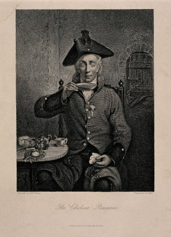 "Fig. 2: ""The Chelsea Pensioner,"" Joseph John Jenkins, English, after a painting by Michael William Sharp."