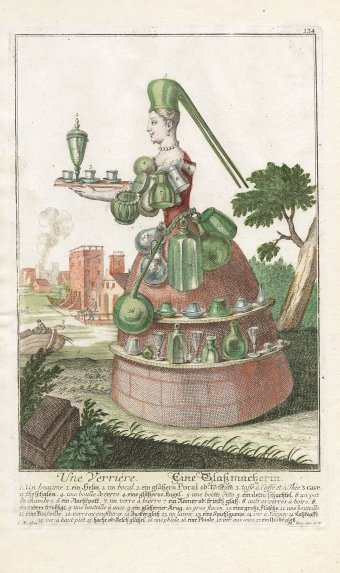 Une verriere / Eine Glassmacherin, Martin Engelbrecht, Augsburg, Germany, 1730, CMGL 129856