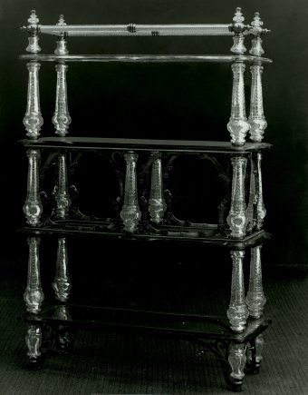 Fig. 5: Etagère made for the nizam's palace, Hyderabad, India, Elias Palme, about 1895. Národní Technické Muzeum, Prague.