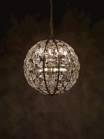 Collection search corning museum of glass crystal sphere chandelier aloadofball Image collections