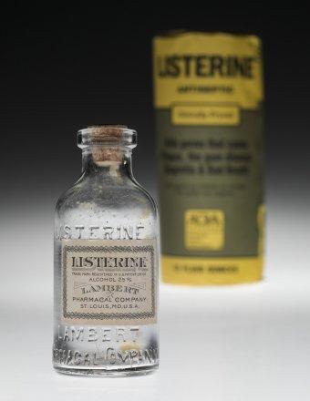 glass listerine bottle