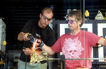 Marc Petrovic at Hot Glass on Nantucket