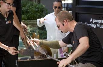 Designer Francisco Costa at GlassLab at Cooper-Hewitt, National Design Museum, New York 2008