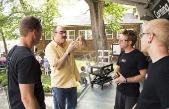 Designer James Victore at GlassLab on Governors Island, June 2012