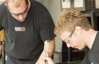 Designer Q Cassetti at GlassLab on Governors Island, July 2012