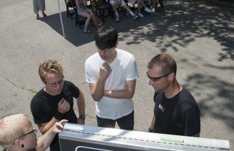Designer Eric Ku at GlassLab on Governors Island, June 2012
