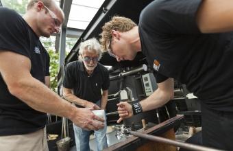 Designer Wendell Castle at GlassLab in Corning, NY, June 19 - 20, 2012