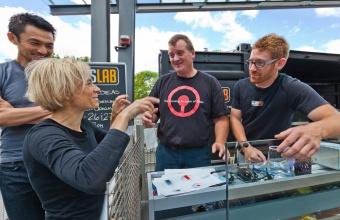 Designers Sigi Moeslinger and Masamichi Udagawa at GlassLab in Corning, June 2012