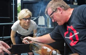 Designer Sigi Moeslinger at GlassLab in Corning, June 2012