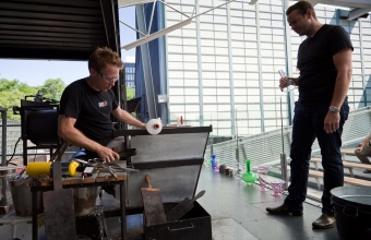 Designer Marc Thorpe in a GlassLab design session in Corning, July 2012