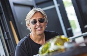 Designer Jon Otis at GlassLab in Corning, July 2012