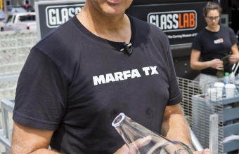 Designer Jon Otis at GlassLab in Corning, July 2012