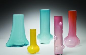 """""""Tube"""" Vase Prototypes by designer Tomoko Azumi at GlassLab"""