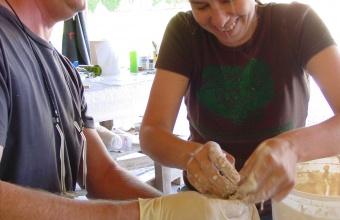 Paul Haigh at the Liquid Fusion Workshop at Boisbuchet 2006