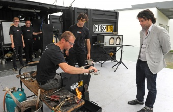 Designer Jeff Zimmerman at GlassLab