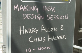 Harry Allen and Chris Hacker at GlassLab in Corning, August 2012