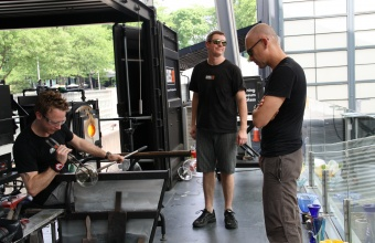 Designer Josh Owen at GlassLab in Corning, May 2012