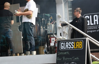 Peter Buchanan Smith at GlassLab on Governors Island, June 29, 2012