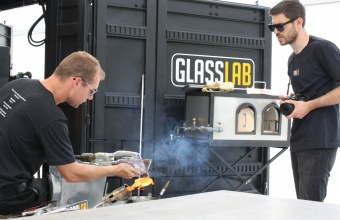 Designer Max Lamb at GlassLab at Vitra Design Museum, Art Basel 2010