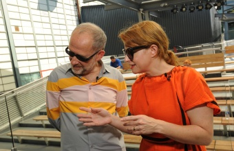 Designers Constantin and Laurene Boym in a GlassLab Design Session in Corning, NY, August 2012