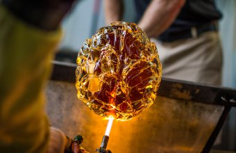 A glass brain designed by Sigga Heimis is created at The Studio