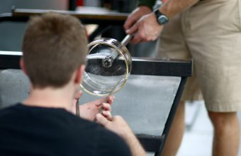 David Strauss participates in a GlassLab design session in Corning, June 2013