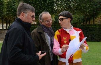 Designer Matali Crasset in a GlassLab design session in Paris, 2013. Photo credit Diedi von Schaewen.