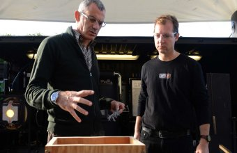 Designer Arik Levy in a GlassLab design session in Paris, 2013. Photo credit Diedi von Schaewen.
