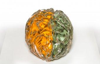 A giant brain designed by Sigga Heimis for GlassLab