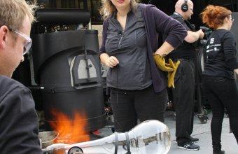 Designer Vanessa Mitrani in a GlassLab design session in Paris, 2013.