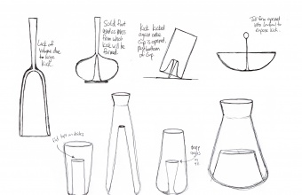 Designs for kicks in glass by Dan Ipp and Tom Zogas for GlassLab