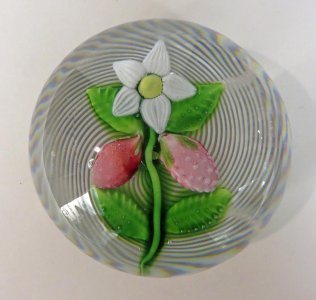 Paperweight with Strawberry Plant