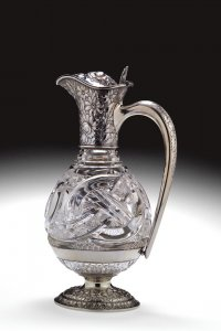 "Claret Decanter in ""Crystal City"" or ""Wedding Ring"" Pattern"