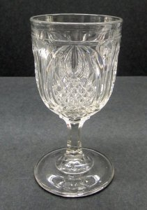 """Goblet in """"New England Pineapple"""" Pattern"""