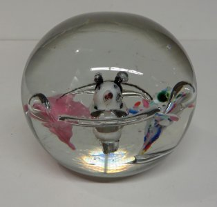 Paperweight with Head and Flowers