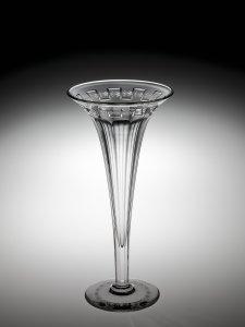 """Vase in """"Flutes & Paneled Border"""" Pattern"""