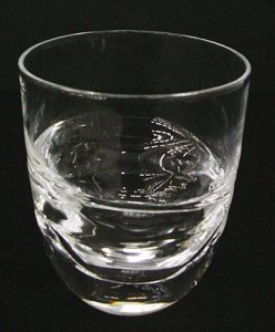 Double Gather Cut Drinking Glass
