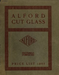 Trade price list on Alford cut glass.