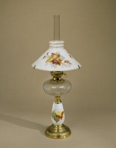 Lamp with Enameled Decoration