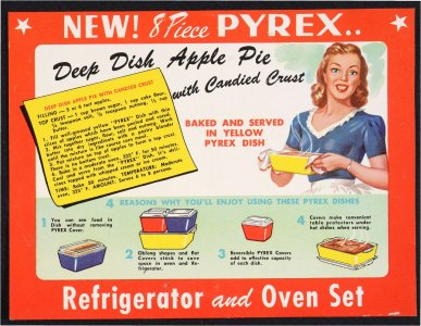 New 8 piece Pyrex refrigerator and oven set [advertisement].