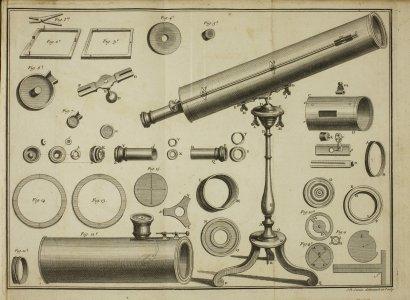 Construction d'un télescope de réflexion de seize pouces de longueur, faisant l'effet d'une lunette de huit pieds, et de pluisieurs autres télescopes... avec la composition de la matiere des miroirs, & la maniere de les polir & de les monter. On y a joint un traité de lárt de faire facilement des grands verres objectifs, les oculaires & des lentilles de différens foyers, avec la construction des lunettes & des microscopes, & leurs principaux usages.
