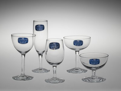 """5 Glasses in """"The President's House"""" Pattern"""