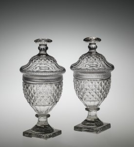 2 Covered Urns