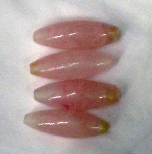 4 Elongated Oval Beads