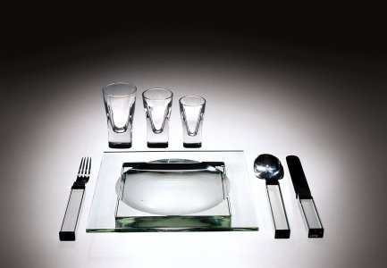 Plate, Fork, Knife, and Spoon