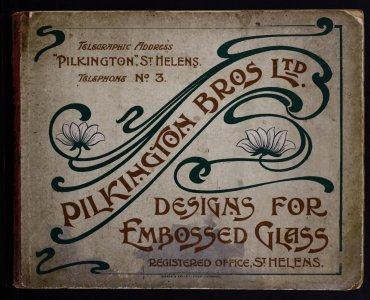 Designs for embossed glass.