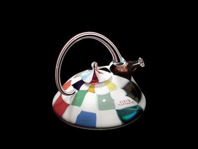 Checkerboard Teapot