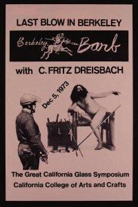Last blow in Berkeley with C. Fritz Dreisbach [picture]: Dec 5, 1973.