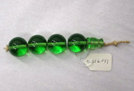 String of 4 Beads and Terminal